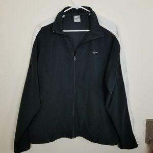 Nike| black and white zip up windbreaker